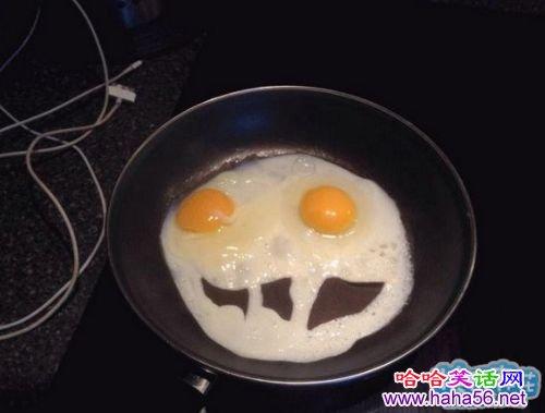 这蛋煎得太有特色了!