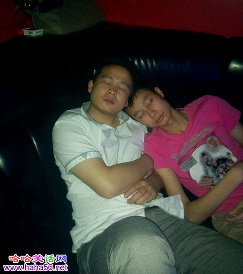 两人睡得好幸福啊